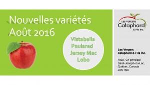 AOUT POMMES Nouvelles variétés